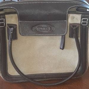 Genuine Tod's suede handbag